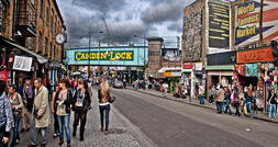 Busy street of Camden Town